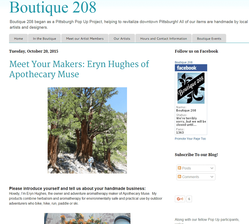 boutique 208 interview